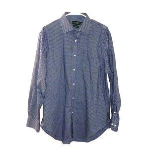 Lauren Ralph Lauren blue and white plaid l/s shirt